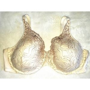 Playtex Plus Bra Cream Embroidered Front 44D